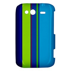 Blue and green lines HTC Wildfire S A510e Hardshell Case