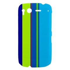 Blue and green lines HTC Desire S Hardshell Case