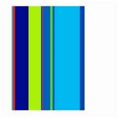 Blue and green lines Large Garden Flag (Two Sides)
