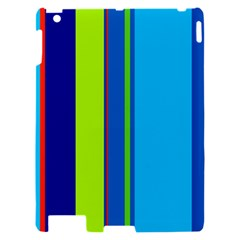 Blue and green lines Apple iPad 2 Hardshell Case