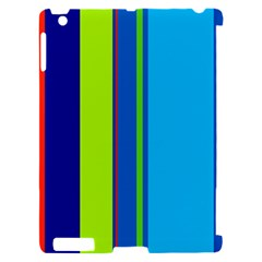 Blue and green lines Apple iPad 2 Hardshell Case (Compatible with Smart Cover)
