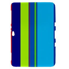 Blue and green lines Samsung Galaxy Tab 8.9  P7300 Hardshell Case
