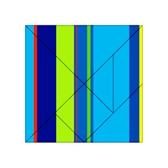 Blue and green lines Acrylic Tangram Puzzle (4  x 4 )