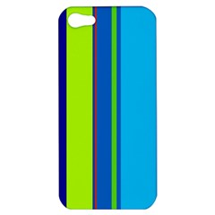 Blue and green lines Apple iPhone 5 Hardshell Case