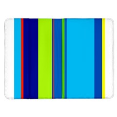 Blue and green lines Kindle Fire (1st Gen) Flip Case