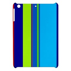 Blue and green lines Apple iPad Mini Hardshell Case