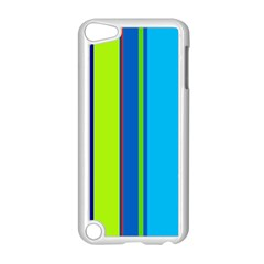 Blue and green lines Apple iPod Touch 5 Case (White)