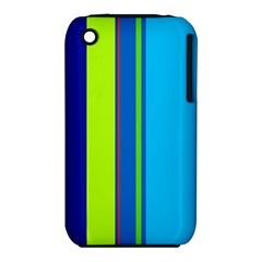 Blue and green lines Apple iPhone 3G/3GS Hardshell Case (PC+Silicone)