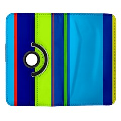 Blue and green lines Samsung Galaxy Note II Flip 360 Case