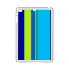 Blue and green lines iPad Mini 2 Enamel Coated Cases