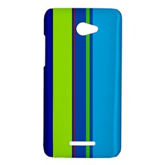 Blue and green lines HTC Butterfly X920E Hardshell Case