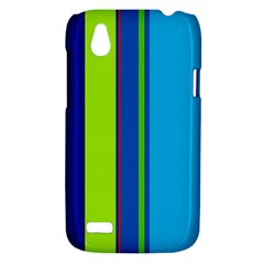 Blue and green lines HTC Desire V (T328W) Hardshell Case