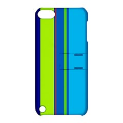 Blue and green lines Apple iPod Touch 5 Hardshell Case with Stand