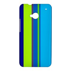 Blue and green lines HTC One M7 Hardshell Case
