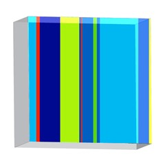 Blue and green lines 5  x 5  Acrylic Photo Blocks