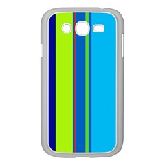 Blue and green lines Samsung Galaxy Grand DUOS I9082 Case (White)