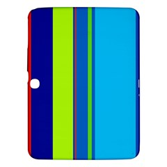 Blue and green lines Samsung Galaxy Tab 3 (10.1 ) P5200 Hardshell Case