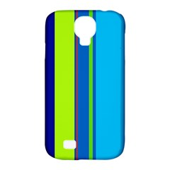 Blue and green lines Samsung Galaxy S4 Classic Hardshell Case (PC+Silicone)