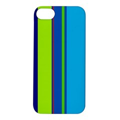 Blue and green lines Apple iPhone 5S/ SE Hardshell Case
