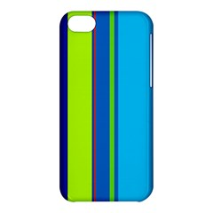 Blue and green lines Apple iPhone 5C Hardshell Case