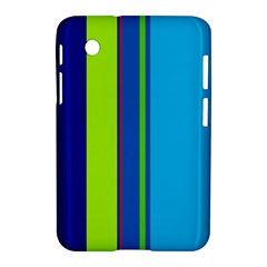 Blue and green lines Samsung Galaxy Tab 2 (7 ) P3100 Hardshell Case
