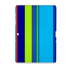 Blue and green lines Samsung Galaxy Tab 2 (10.1 ) P5100 Hardshell Case