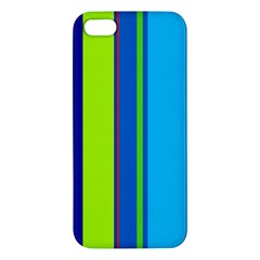 Blue and green lines iPhone 5S/ SE Premium Hardshell Case