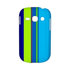 Blue and green lines Samsung Galaxy S6810 Hardshell Case