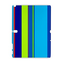 Blue and green lines Samsung Galaxy Note 10.1 (P600) Hardshell Case