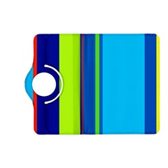 Blue and green lines Kindle Fire HD (2013) Flip 360 Case
