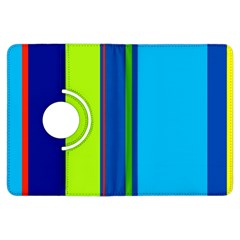 Blue and green lines Kindle Fire HDX Flip 360 Case