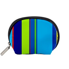 Blue and green lines Accessory Pouches (Small)