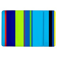 Blue and green lines iPad Air Flip