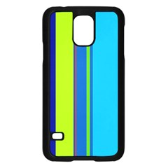 Blue and green lines Samsung Galaxy S5 Case (Black)