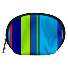 Blue and green lines Accessory Pouches (Medium)