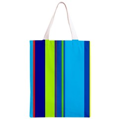 Blue and green lines Classic Light Tote Bag