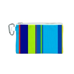 Blue and green lines Canvas Cosmetic Bag (S)