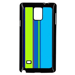 Blue and green lines Samsung Galaxy Note 4 Case (Black)