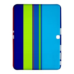 Blue and green lines Samsung Galaxy Tab 4 (10.1 ) Hardshell Case