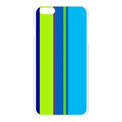 Blue and green lines Apple Seamless iPhone 6 Plus/6S Plus Case (Transparent)