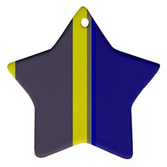 Blue and yellow lines Ornament (Star)
