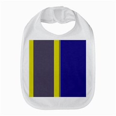 Blue and yellow lines Bib