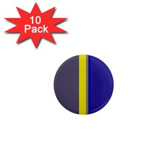 Blue and yellow lines 1  Mini Magnet (10 pack)