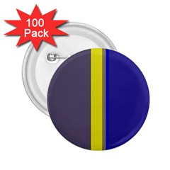 Blue and yellow lines 2.25  Buttons (100 pack)