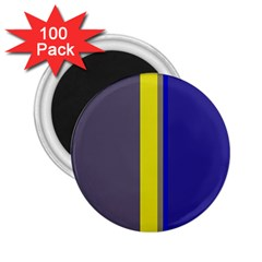 Blue and yellow lines 2.25  Magnets (100 pack)