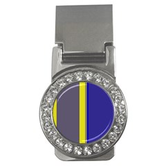 Blue and yellow lines Money Clips (CZ)