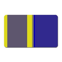 Blue and yellow lines Magnet (Rectangular)