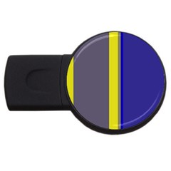 Blue and yellow lines USB Flash Drive Round (2 GB)
