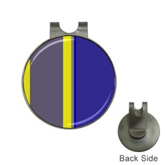 Blue and yellow lines Hat Clips with Golf Markers