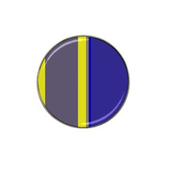 Blue and yellow lines Hat Clip Ball Marker (10 pack)